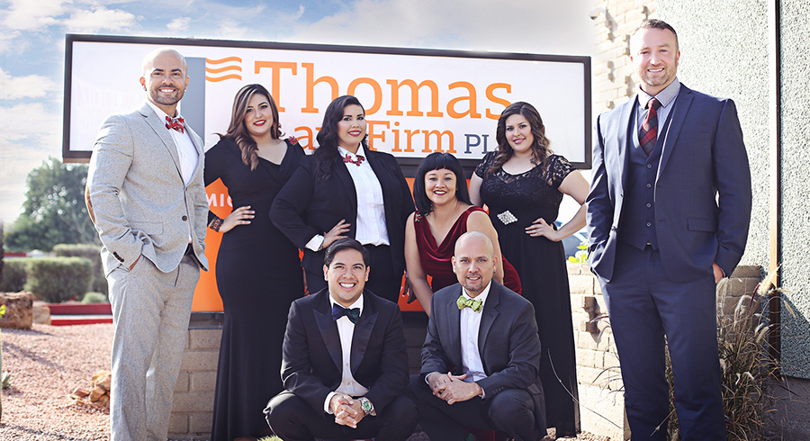 Thomas Law group photo outside